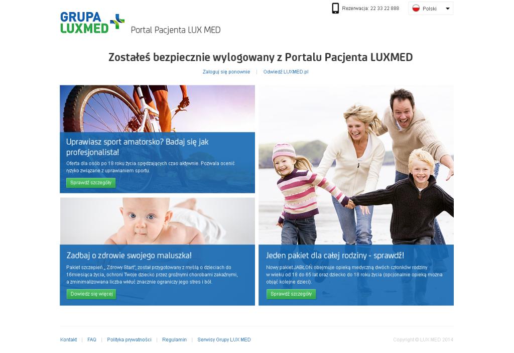 Usability LAB jest autorem zoptymalizowanej strony Portalu Pacjenta Grupy LUX MED