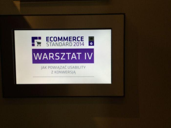 Ecommerce Standard 2014 - warsztaty o związkach usability z konwersją